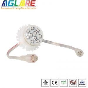35mm rgb led lamp 9LEDS led pixel light of full co...