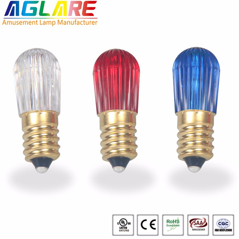 E14 6 Leds 1 Watt Smd3528 Amsement Single Color Led Bulb