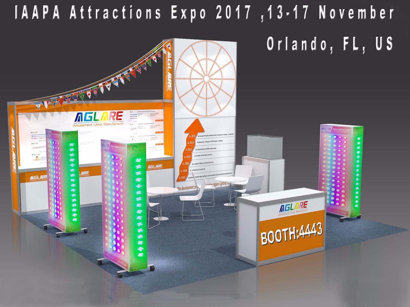 Aglare Lighting to Exhibit at the 2017 IAAPA Attractions Expo