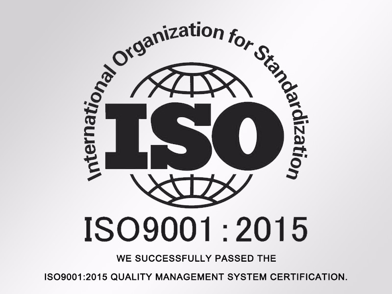 successfully passed the ISO9001:2015 quality management system certification
