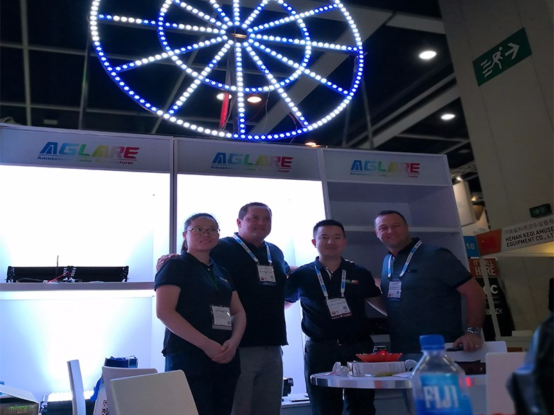 Congratulations! Aglare lighting made a success in the 2018 IAAPA AAE in Hong Kong