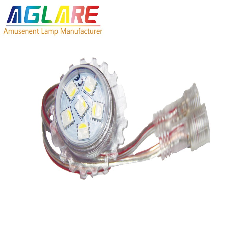 Long lifespan colorful automatic led amusement rgbw lamps with ROHS and CE.